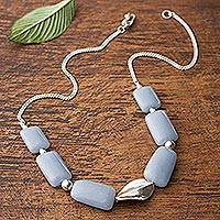 Celestite pendant necklace, 'Celeste Hope' - Celestite pendant necklace