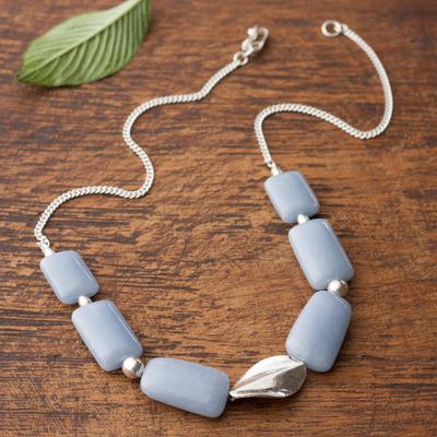 Celestite pendant necklace, 'Celeste Hope' - Celestite pendant necklace