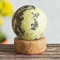 Serpentine sphere, 'World of Nature'