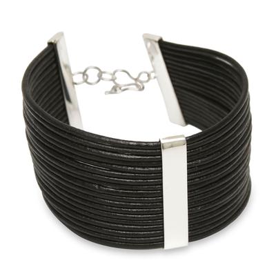 Fair Trade Peruvian Leather Cuff Bracelet