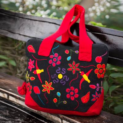 e01f89accc67c Unique Floral Wool Embroidered Laptop Bag (13 Inch) - Amazonia