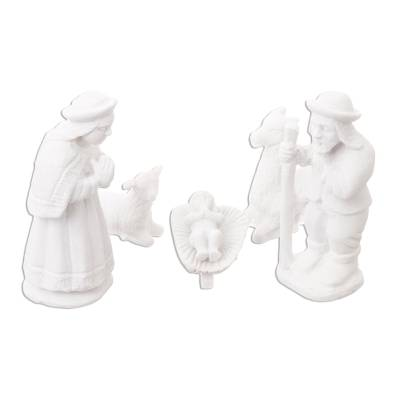 Huamanga stone nativity scene, 'Mystery in Ayacucho' (5 pieces) - Handcrafted Nativity Scene Stone Sculpture (5 Pieces)