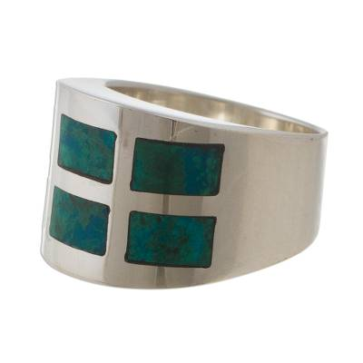 Chrysocolla band ring