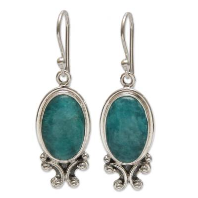 Handcrafted Sterling Silver Dangle Amazonite Earrings