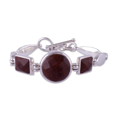 Mahogany obsidian pendant bracelet