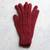 100% alpaca gloves, 'Lush Rose' - 100% alpaca gloves (image 2) thumbail