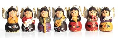 Ceramic ornaments, 'Angel Chorus' (set of 7) - Ceramic ornaments (Set of 7)