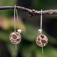 Leopardite drop earrings, 'Transformations' - Leopardite drop earrings