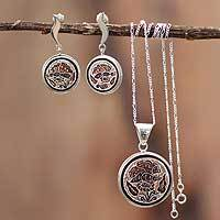 Featured review for Mate gourd jewelry set, Butterfly Blossom