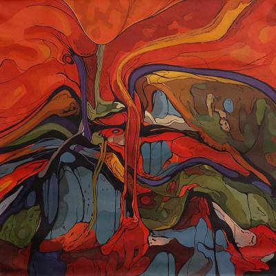 Abstract Painting - Anxiety II | NOVICA