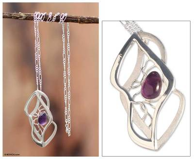 Amethyst pendant necklace, Lyrical