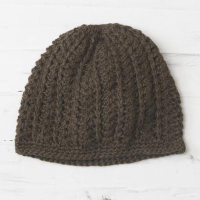 11b933d8b Handmade Alpaca Wool Green Hat, 'Green Andes'