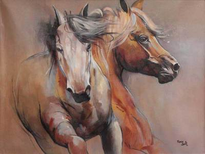 'Freedom' (2010) - Modern Horse Painting