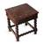 Mohena wood and leather accent table, 'Viceroy' - Handcrafted Traditional Leather Wood End Table thumbail