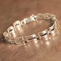 Men's sterling silver bracelet, 'Emperor'
