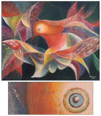 'Passion' (2010) - Expressionist Bird Painting