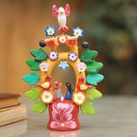 Ceramic sculpture, 'Sweet Nativity'