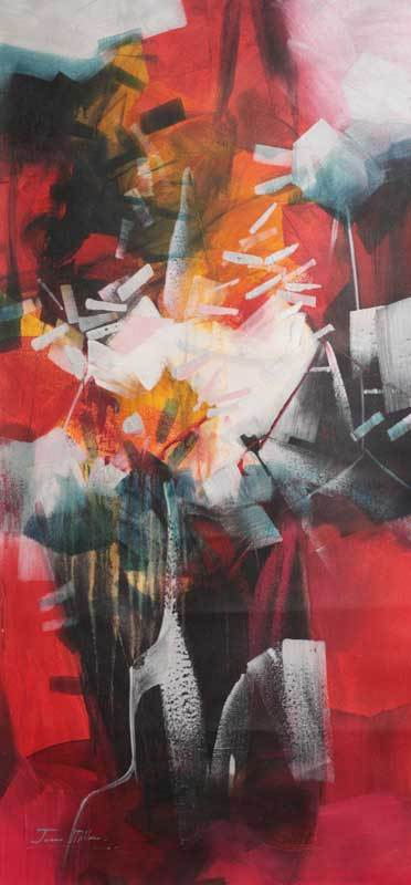 'The Force of Red' - Abstract Painting