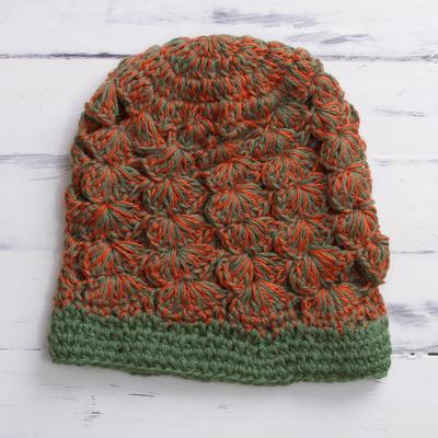 e52b94e6457 Alpaca Wool Crochet Hat - Pepper Orange