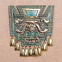 Bronze and copper wall art, 'Images of Chavin'
