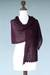 Alpaca blend shawl, 'Muse in Plum' - Alpaca Wool Soft Hand Knit Shawl (image 2c) thumbail