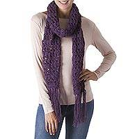 Featured review for 100% alpaca scarf, Amethyst Fantasy