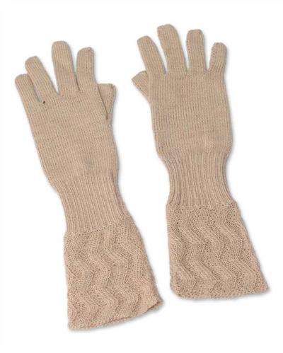 100% alpaca gloves, 'Winter Queen' - Artisan Crafted Alpaca Wool Gloves
