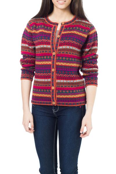 100% alpaca cardigan, 'Be Bold' - Alpaca Wool Cardigan Sweater