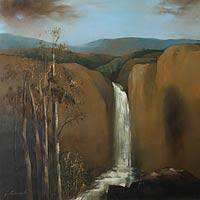 'Torrent with Eucalyptus' (2010) - Landscape Realist Painting