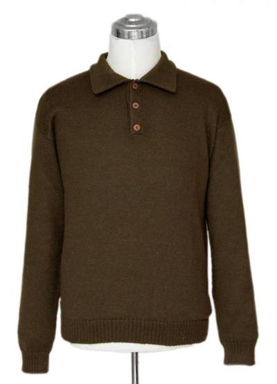 Alpaca men's sweater, 'Olive' - Men's Alpaca Wool Sweater