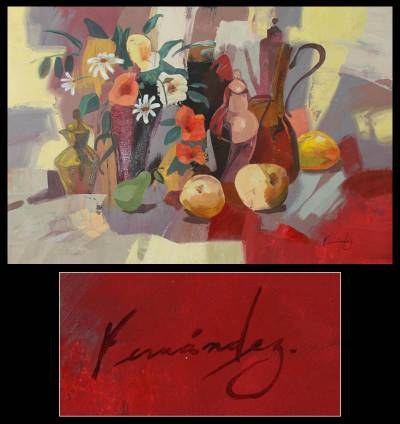 'Smiling at Freedom' - Peruvian Still Life Painting