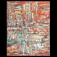 'Interiors II' (2010) - Interior Chaos Original Painting Peru Art