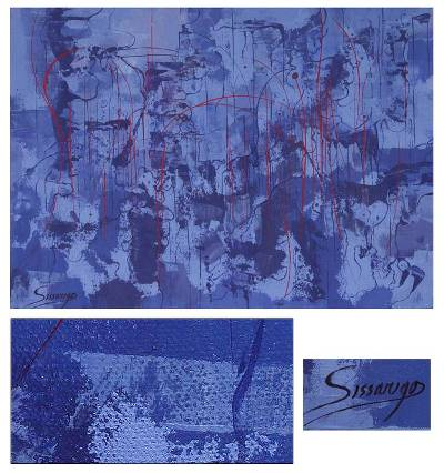 'Blue Reflection' - Peru Original Fine Art Abstract Painting