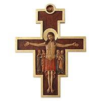 Cedar wall crucifix, 'In the Company of Jesus' - Cedar wall crucifix