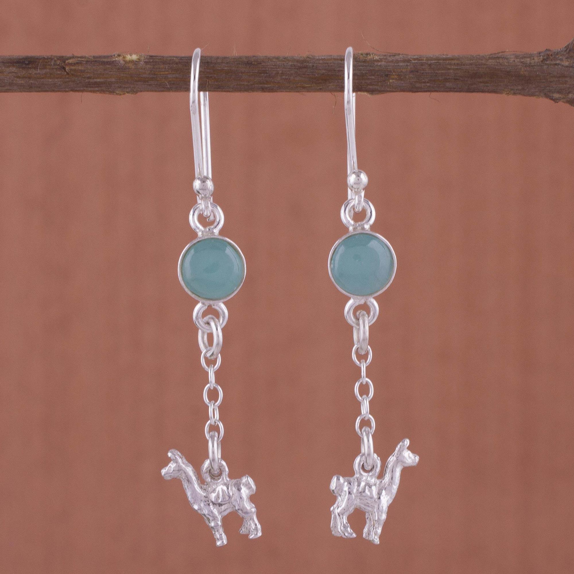4eaba02bf Unicef UK Market | Artisan Opal and Sterling Silver Dangle Llama ...