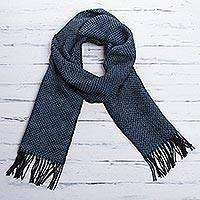 Featured review for Mens 100% alpaca scarf, Lake Arapa Night