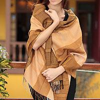 100% alpaca shawl, 'Sechura Dunes'