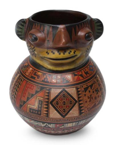Aged Cuzco vase, 'Grandfather Andes' - Aged Cuzco vase