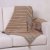 Alpaca blend throw, 'Inca Land' - Hand Woven Alpaca Throw