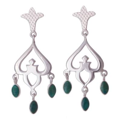 Chrysocolla chandelier earrings