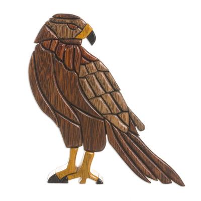 Wood sculpture, 'Majestic Eagle' - Hand Made Ishpingo Wood Sculpture