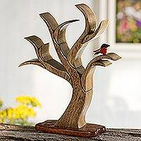 Wood sculpture, 'Tree in Winter'