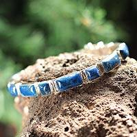Featured review for Lapis lazuli wristband bracelet, Sweetheart