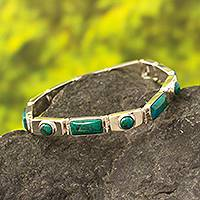 Featured review for Chrysocolla wristband bracelet, Sweetheart