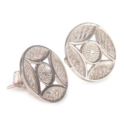 Fair Trade Fine Silver Filigree Earrings