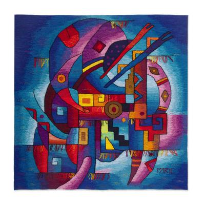 Alpaca blend tapestry, 'Water Spirit' - Alpaca blend tapestry