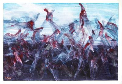 'Mortal Warming' (2011) - Abstract Fine Art Oil Painting (2011)