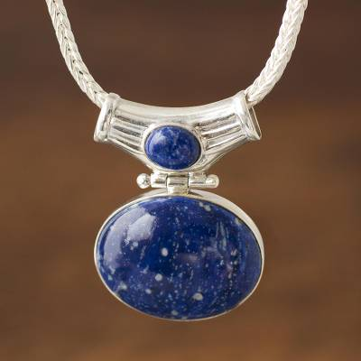 lapis silver collection tw lyst blue ct lazuli pendant jewelry w effy t sterling in necklace