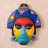 Ceramic mask, 'Chavin' - Ceramic mask