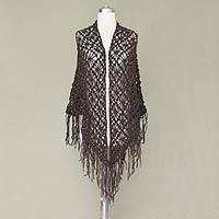 100% alpaca shawl, 'Stars Over Sechura' - 100% alpaca shawl